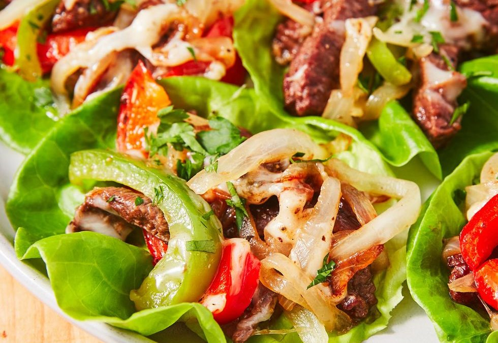 KETO PHILLY CHEESESTEAK LETTUCE WRAP