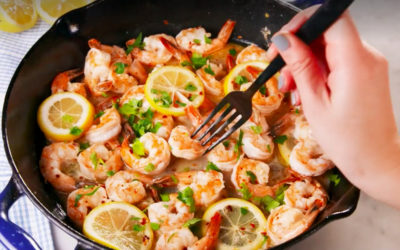 Keto Lemon Garlic Shrimp